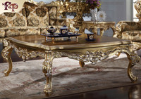 Wholesale luxury classic furniture resale online - Antique furniture manufacturer French classic coffee table Luxury high end villa furniture