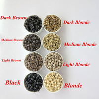Wholesale wholesale for micro rings for sale - 1000pcs Bag mmx2 mmx2 mm Micro Aluminium with Silicone Rings Links Beads For Hair Extensions tools colors