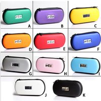 Wholesale Cheap Cigarette Boxes - Colorful PU Leather Ego Cases Cheap Small Big EGO Electronic Cigarette Zipper Box Case Bag Package with Zipper Carrying for E-cigarette E04