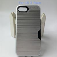 ingrosso zte grand x copertine-Per ZTE Grand X4 Z956 Per LG X Style Tribute HD V20 X Armatura elettrica Custodia ibrida Cover spazzolata Fessura per carta di credito