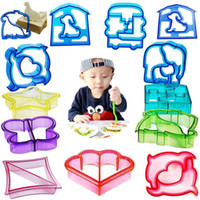 Wholesale Cookie Cutter Set Plastic - Sandwich Cutters Mold Crust Cutter Toast Cookie Cutters Baking Bread Presses Set Adult Kids Lunch Maker DIY Cute Shape WX-C65