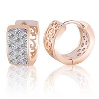 Wholesale Hoop Crystal Earings - High Quality Fashion Hoop Earrings For Women Brincos Jewelry White Crystal Zirconia Statement Earings 2016 ES113