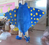 Wholesale Fishing Mascots - SW0409 100% real photos of Stingray mascot costume ray fish mascot costume for adult to wear