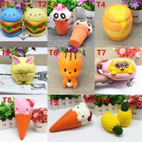 Wholesale Cute Penguin Cartoons - Squishy Toy pegasus squirrel penguins squirre squishies Cartoon ice Soft Squeeze Cute Cell Phone Strap gift Stress for children toy