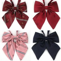 Wholesale Cute Bow Ties Girls - 2016 New 50pcs   lot Polyester Bowknot girls Uniform Collar Collar Flower Cute Cool Christmas Gift 14 * 15cm have 29 style