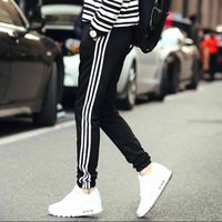 Wholesale Drop Crotch Men - Wholesale-Harem Pants New Style Fashion 2016 Casual Skinny Sweatpants Sport Pants Trousers Drop Crotch Jogging Pants Men Joggers