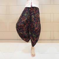Wholesale Trend Harem Pant - Wholesale-Big crotch pants male fluid bloomers national trend culottes harem pants loose harem pants plus size ankle length trousers K61