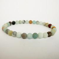 Wholesale Natural Amazonite - SN1153 Natural Amazonite Bracelet 6mm beads Matte Amazonite Jewelry High Quality Women`s Bracelet Yoga Meditation Bracelet