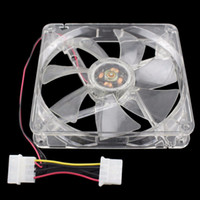 Wholesale Small Notebook Computers - Wholesale- 14CM 140mm Blue Light LED Silent PC Desktop Computer Notebook Case Cooler Small Cooling Fan Mod Clear Simple Version