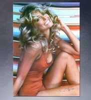 Wholesale Original Paintings Impressionist Landscapes - HUGE POSTER ART PRINT ON CANVAS FOR FARRAH FAWCETT POSTER 1976 Original