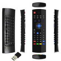 Wholesale 3 in G Wireless Keyboard Air Mouse Remote for XBMC Android TV Box Black