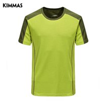 Wholesale KIMMAS Outdoor quick drying t shirt Men short sleeve quick dry clothing sunscreen breathable sweat absorbing running fitness