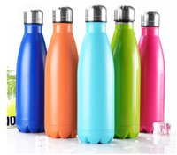 Wholesale Stainless Water Bottles - Cola Water bottle Shaped Insulated Double Wall Vacuum high-luminance Water Bottle 17oz 500ml Creative Thermos bottle Vaccum Insulated