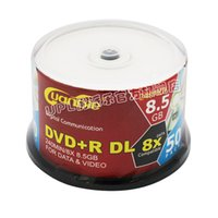 Wholesale Dvd R Wholesale - UPL 8.5G printable disc DVD + R DL 8X D9 blank disc recorders 50pcs lot