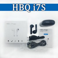 Wholesale Earphone Hi Fi - Bluetooth 4.2 Wireless Earphones Twins HBQ I7S TWS Hi Fi Stereo In Ear Headphone With Charger box Headset For Apple iPhone Android