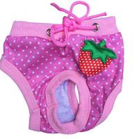 Wholesale Pet Sanitary Pants - Female Pet Dog Puppy Sanitary Lovely Pant Short Panty Striped Diaper Underwear