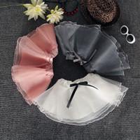 bale giysileri kız toptan satış-Kızlar Kabarcık Etekler Organze Dans Elbiseler Tutu Elbise Bale Etek Çocuklar Altın Gümüş Yay Pettiskirt Elbise 3-8 T elbiseler