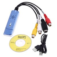 Compra Scheda Audio Video-3IC / 007 Portable USB scheda di acquisizione 2.0 Easycap Video Audio Adapter VHS DC60 DVD Converter Composito RCA blu