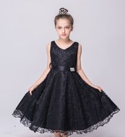 bastante primavera flores al por mayor-Hermosas Pink Flower Girls vestidos para bodas Primavera Pretty Girls vestidos Cute Satin Puffy Tulle Dressup