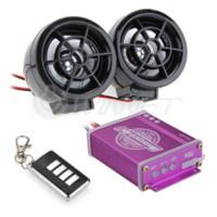 Wholesale Motorcycle Audio System Radio - Waterproof Motorcycle Audio Remote Sound System TF Card MP3 FM Radio Black mp3 player w fm radio