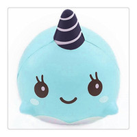 Wholesale Squishy Original - Jumbo Squishies Millie Whale Squishy Soft Pu Slow Rising Squishies Original Package Phone Strap Charms Squeeze Toys Free Shipping