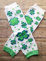 Girl st arm - St Patrick s Day Leg Warmers Shamrock Leg Warmers Child Leg Warmers Adult Arm Warmers pair