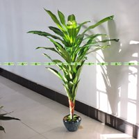 Wholesale Large Green Vases - 1.25M Large Latex Artificial Palm Brazil Bird Plant Tree No Pot Vase in Wedding Home Outdoor Furniture Decor Green P032