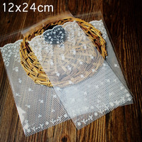 Wholesale Self Adhesive Bread Bags - Wholesale- Big size White lace Self Adhesive Seal bakery bread plastic bag ,gift bags, plastic bags
