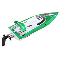 Wholesale Crash Plastic - New Arrival Fei Lun FT009 2.4G High Speed Remote Control Racing Boat 30km h Anti-crash Cover Yacht Christmas Birthday Gift