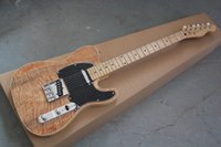 Wholesale new style electric guitar - Wholesale new style telecaster guitar Ameican standard tele Brownish red electric guitar with Golden yellow Golden