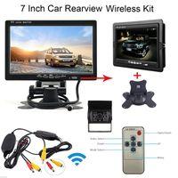 caméra ir étanche automatique achat en gros de-HD Auto 7 pouces LCD Parking Rearview Monitor + Kit de caméra de recul CMO_51Y de voiture IR sans fil étanche Vue arrière