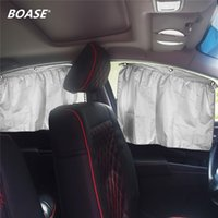 Wholesale Vehicle Window Shades - Wholesale- 4 pieces   lot Rear side window curtain car sun block curtains Motorized vehicle suction cup car blackout shades
