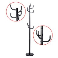 Wholesale Umbrella Holders Stands - New Metal Coat Rack Hat Stand Tree Hanger Hall Umbrella Holder Hooks Black