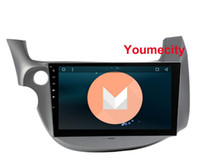 Wholesale Honda Fit Mp3 Player - 10.1 Android 6.0 Car DVD GPS for HONDA FIT JAZZ 2007 2008 2009 2010 2012 2013 radio video player Capacitive 1024*600 RDS wifi00