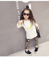 ingrosso pantaloni stretti delle ragazze-2016 New Fashion Neonate Leopard Leggings Per Bambini Casual Long Pencil Pants Tight Dresses Leggings Boot Bambini Gonne Legging