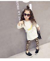 bebeğim sıska bacaklar toptan satış-2016 Yeni Moda Bebek Kız Leopar Tozluk Çocuklar Rahat Uzun Kalem Pantolon Sıkı Elbiseler Tayt Boot Çocuk Etekler Legging