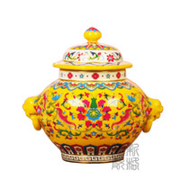 Wholesale Enamel Ceramic Vase - Special offer of Jingdezhen ceramics enamel vase Alocasia general decoration design Home Furnishing tank storage tank