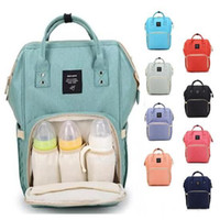 Wholesale Diaper Mummy Bags - 14 Colors New Multifunctional Baby Diaper Backpack Mommy Changing Bag Mummy Backpack Nappy Mother Maternity Backpacks 10pcs