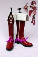 Wholesale Kyoko Sakura Cosplay - Wholesale-Puella Magi Madoka Magica Sakura Kyoko Cosplay Party Shoes Red Fancy Boots Customized Size