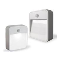 pil led banyo lambası toptan satış-Fabrika fiyat ABS LED Sensör Hareket LED Işık Gece Pil-Güçlendirilmiş Hareket Algılama LED Sopa-Her Yerde Nightlight Banyo Gömme Lamba