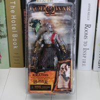 "Wholesale Fleece Toys - NECA God of War Kratos in Golden Fleece Armor with Medusa Head 7.5"" PVC Action Figure Collection Model Toy chidren Chritmas Gift"