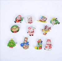 Wholesale Theme Pins Wholesale - Party Decoration Brooch Flashing Christmas Led Brooch X'mas Tree Led Pin Children Gifts Theme Party Cosplay