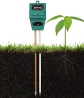 ingrosso luci del giardino pot-Misuratore del tester del suolo per Garden Lawn Plant Pot UMIDO LUCE PH 3 in 1 Strumento sensore Nessun bisogno di batteria TESTER DI TERRA DHL