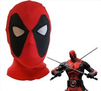 Wholesale deadpool costume women online - Halloween Costumes Mask Deadpool Mask Hoods Cosplay Costumes Lycra Spandex Sexy Mask Hood for Men or Women