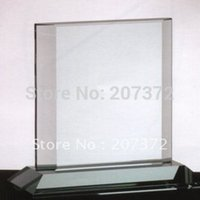 Wholesale 20pcs H mm Glass trophy glass award crystal decoration with sandblast crystal business gift