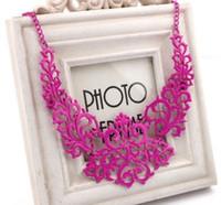 Wholesale Bright Bib Necklace - Wholesale Fashion Elegant Hollow Bright Necklace Bohemian Collar Bone Chain Jewelry Woman Short Sweater Chain Bib Statement Necklace Xmas