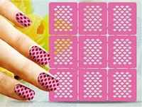Wholesale Reuseable Stencils - Nail Art Stencil Stencils Reuseable Stamping Stickers Manicure Printing Template Stencil Guild 66 Patterns For Gel Polish & UV Gel Paint