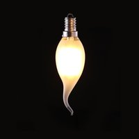 Wholesale E14 Led Dimmable Frosted - 4W 6W,Retro LED Filament Bulb,C35T Frosted Flame Tip,E12 E14 Base,Warm White,Chandelier Decorative Lighting,Dimmable