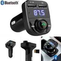 Bluetooth Car Kit Handsfree Set Transmissor FM Leitor de música MP3 5V 4.1A Carregador de carregador USB duplo Suporte Micro SD Card 1G-32G