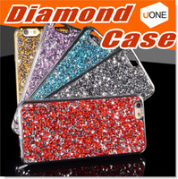 Wholesale Diamond Bumper Iphone Case - Bling Crystal 3D Diamond Pattern Sparkly Handmade Rhinestone Soft TPU Silicone Bumper Cover Perfect Fit for Apple iphone 6s 4.7 inch